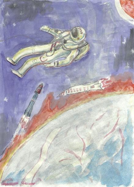 Денис Стронин. Космонавт Леонов в открытом космосе